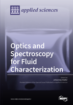 Special issue Optics and Spectroscopy for Fluid Characterization book cover image