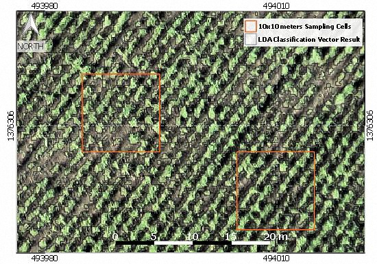 Detecting and measuring planting gaps (precision agriculture