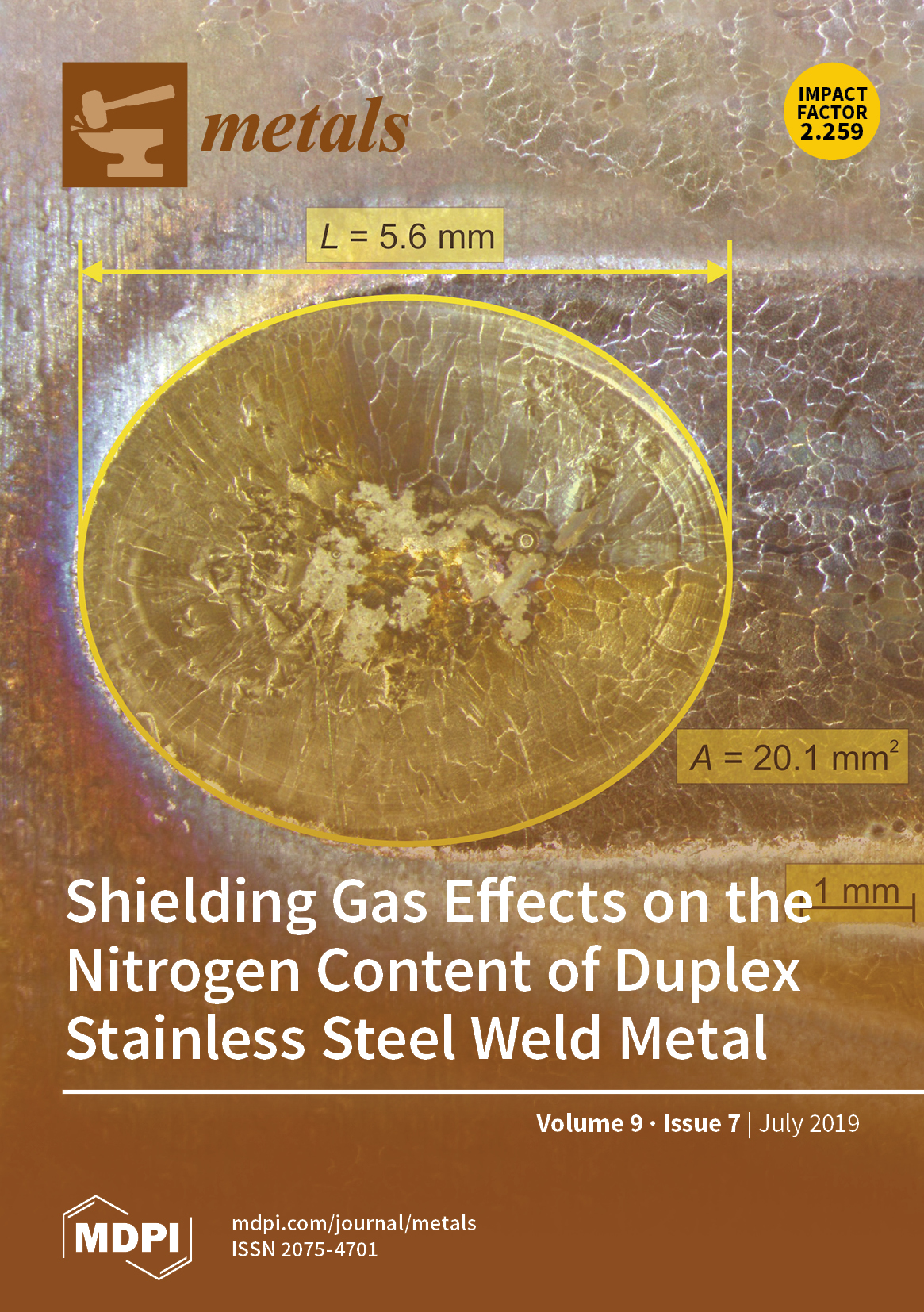 Metals   July 2019 - Browse Articles