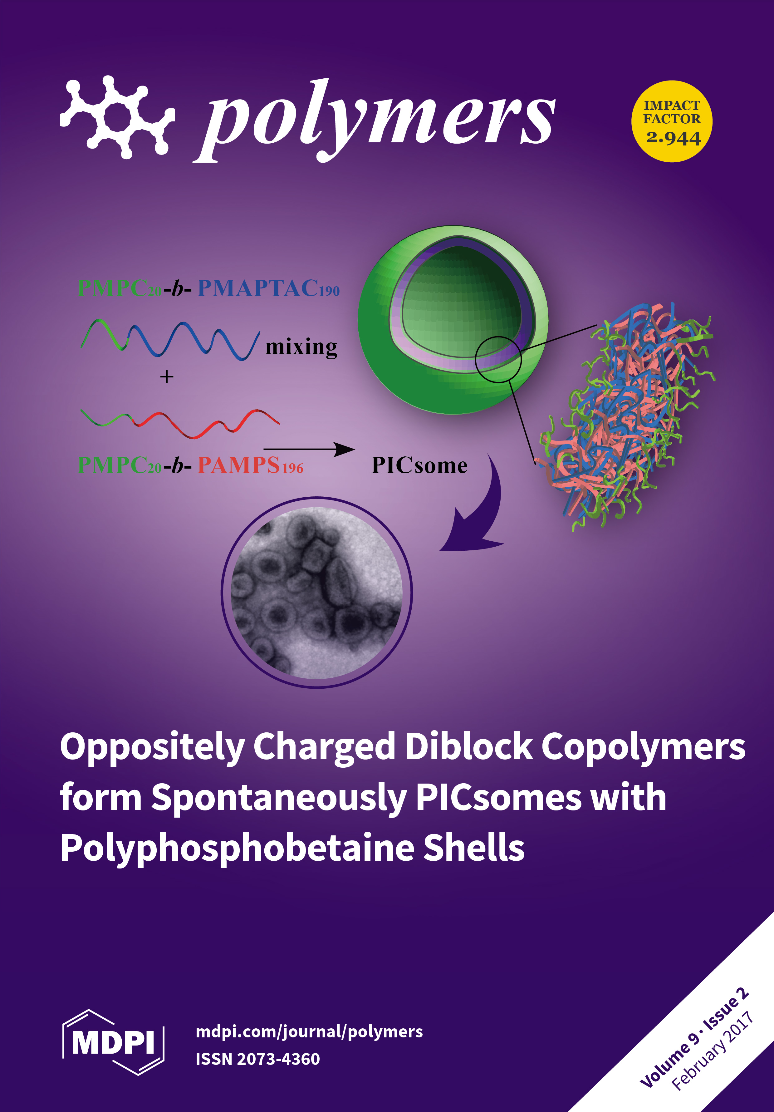 Polymers february 2017 browse articles combining two solutions of oppositely charged diblock copolymers with polyphosphobetaine led to the spontaneous formation of polyion fandeluxe Gallery